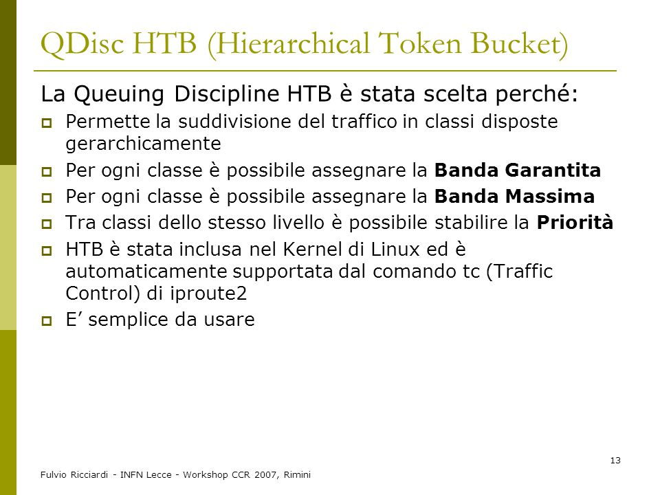 QDisc HTB (Hierarchical Token Bucket)