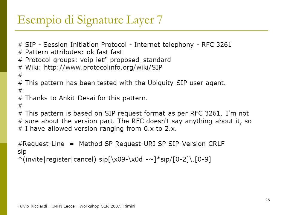 Esempio di Signature Layer 7