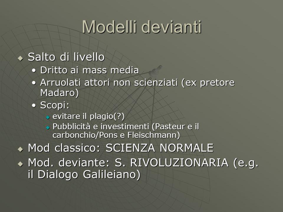 Modelli devianti Salto di livello Mod classico: SCIENZA NORMALE