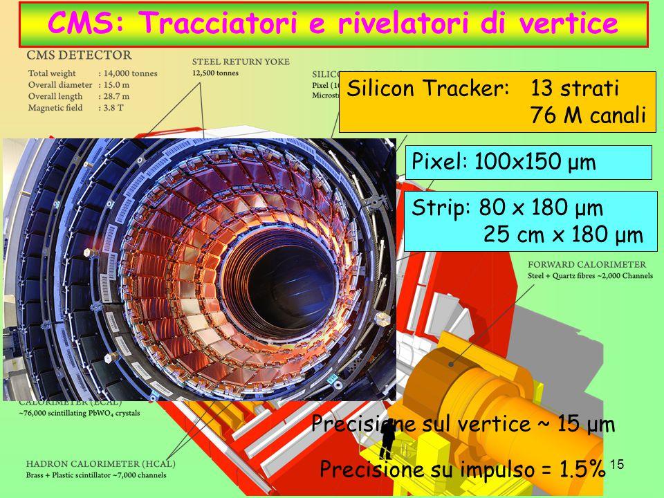 CMS: Tracciatori e rivelatori di vertice