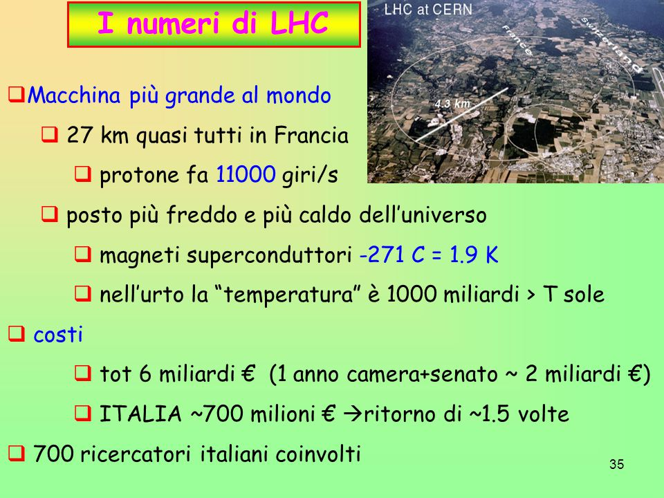 I numeri di LHC Macchina più grande al mondo
