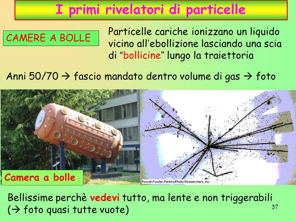I primi rivelatori di particelle
