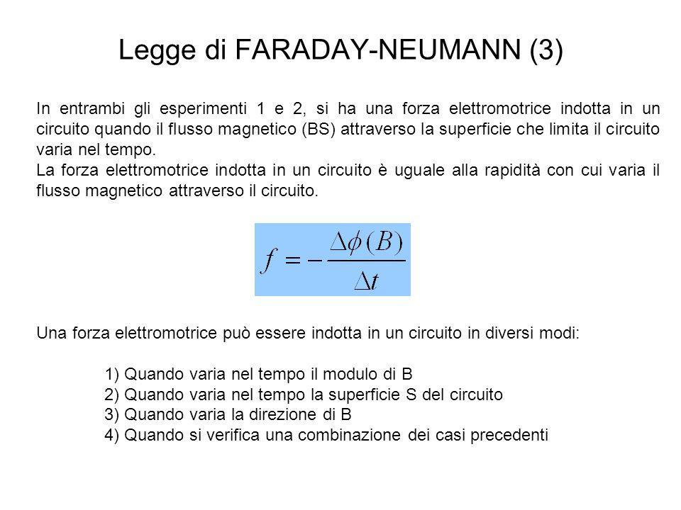 Legge di FARADAY-NEUMANN (3)