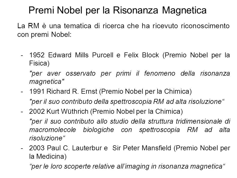Premi Nobel per la Risonanza Magnetica
