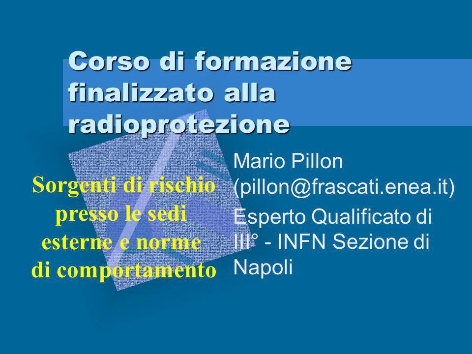 Corso di formazione finalizzato alla radioprotezione