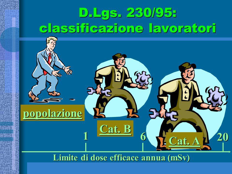 D.Lgs. 230/95: classificazione lavoratori