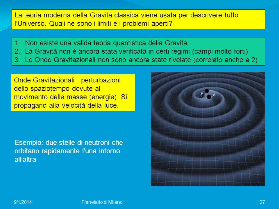 Non esiste una valida teoria quantistica della Gravità