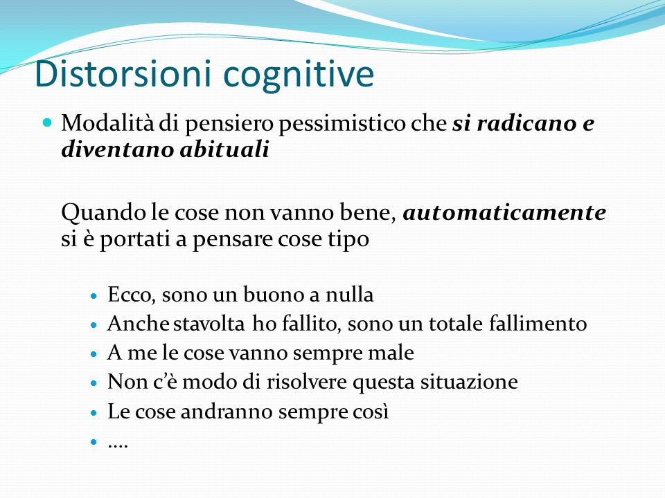 Distorsioni cognitive