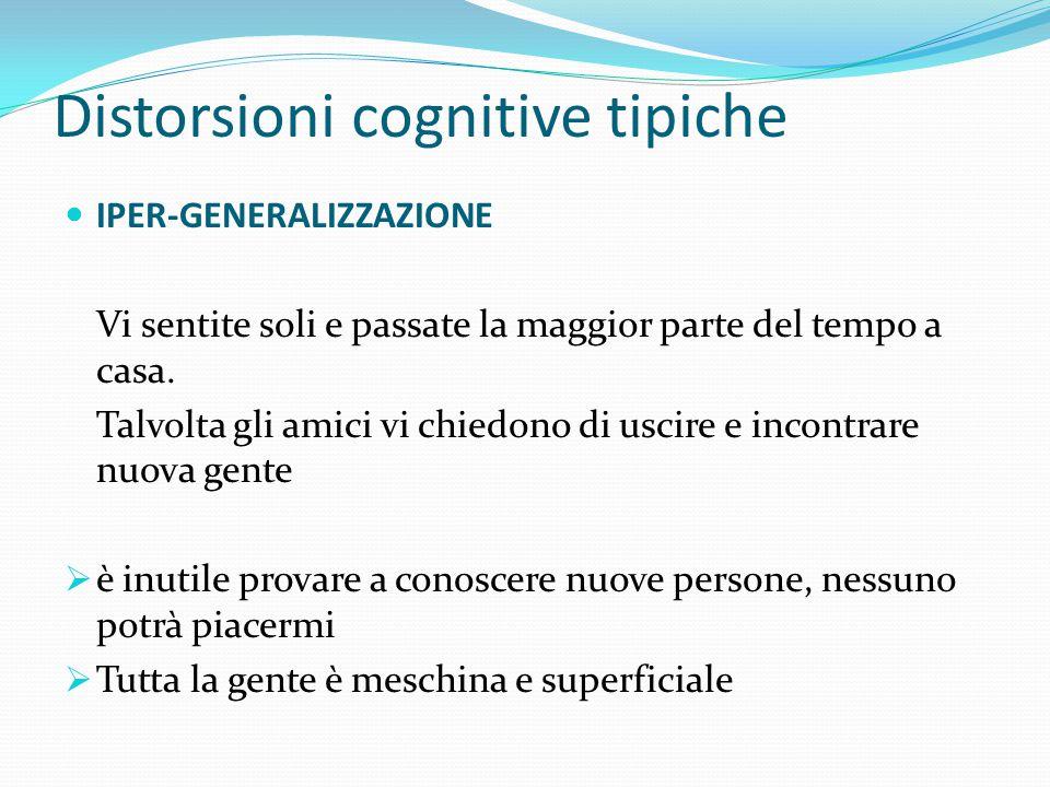 Distorsioni cognitive tipiche