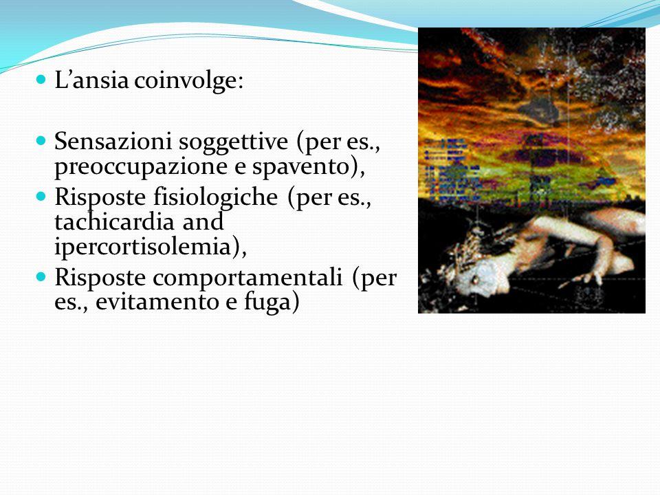 Sensazioni soggettive (per es., preoccupazione e spavento),