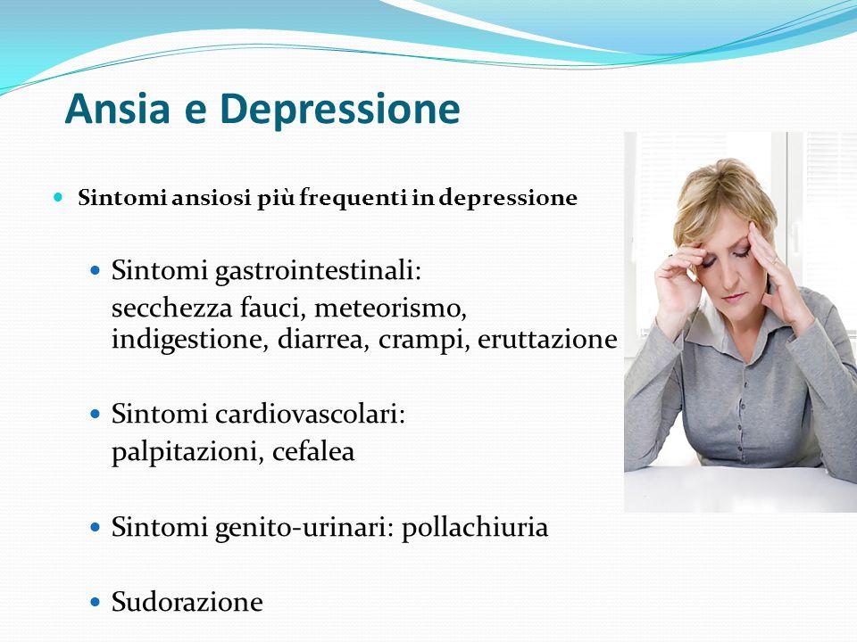 Ansia e Depressione Sintomi gastrointestinali: