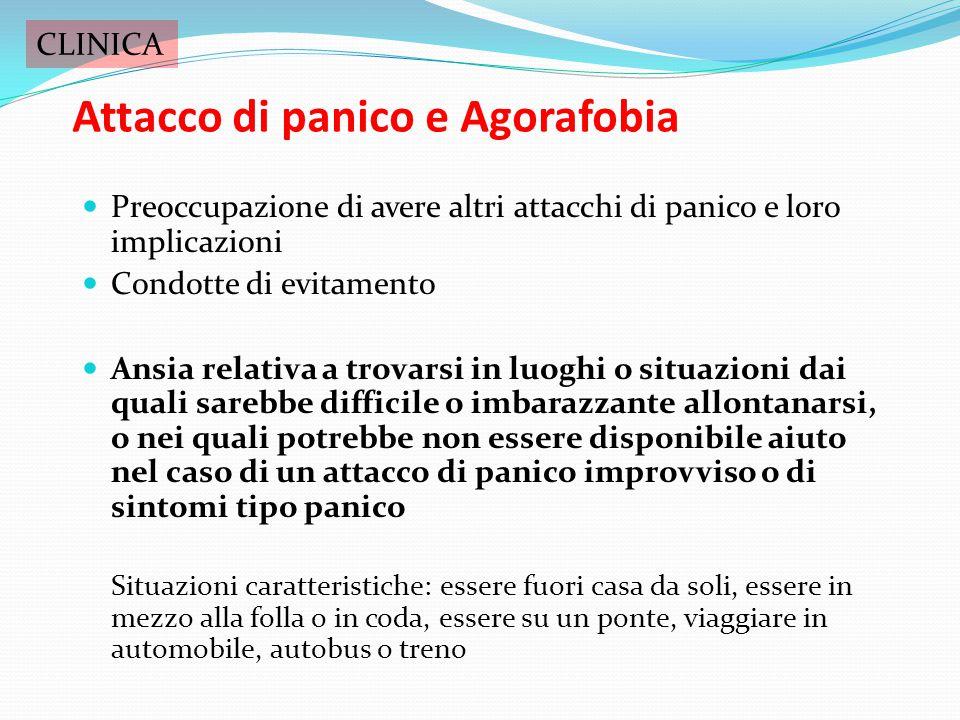 Attacco di panico e Agorafobia