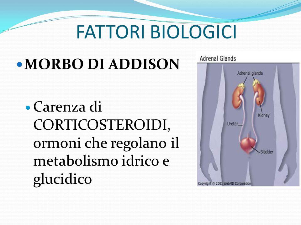 FATTORI BIOLOGICI MORBO DI ADDISON