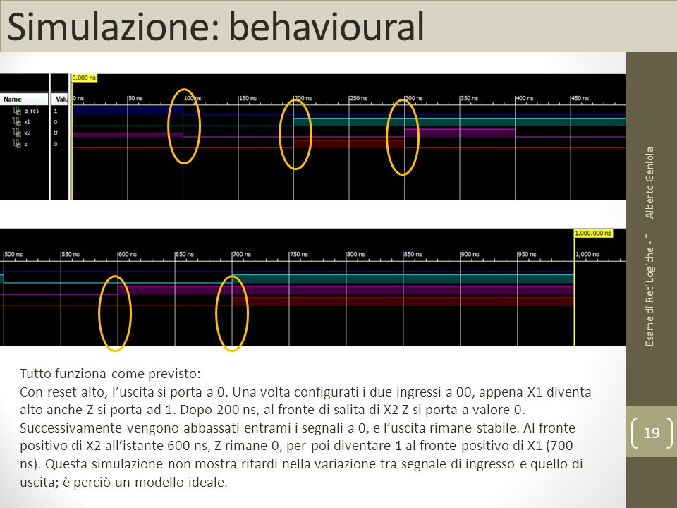 Simulazione: behavioural