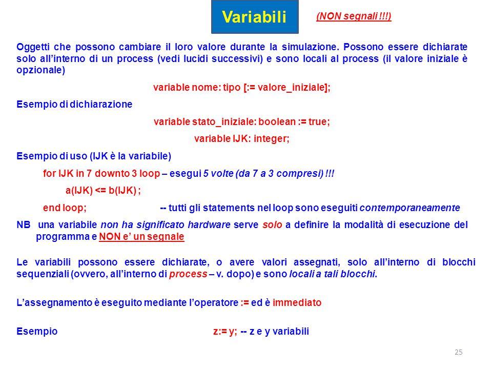 Variabili (NON segnali !!!)