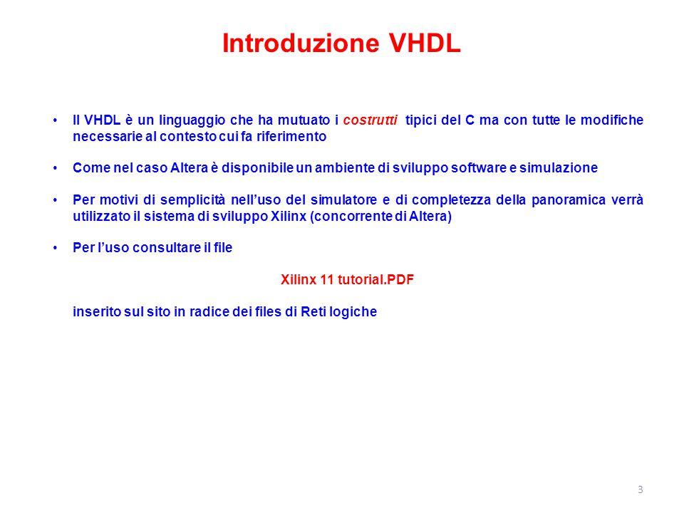 Introduzione VHDL
