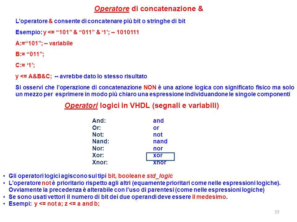 Operatore di concatenazione &
