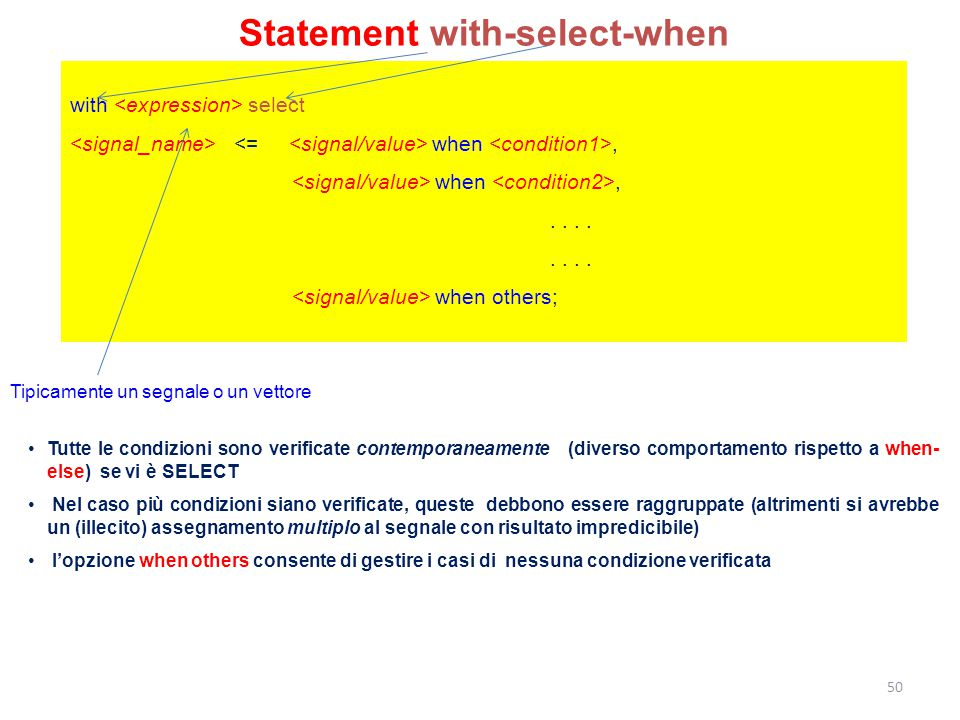 Statement with-select-when