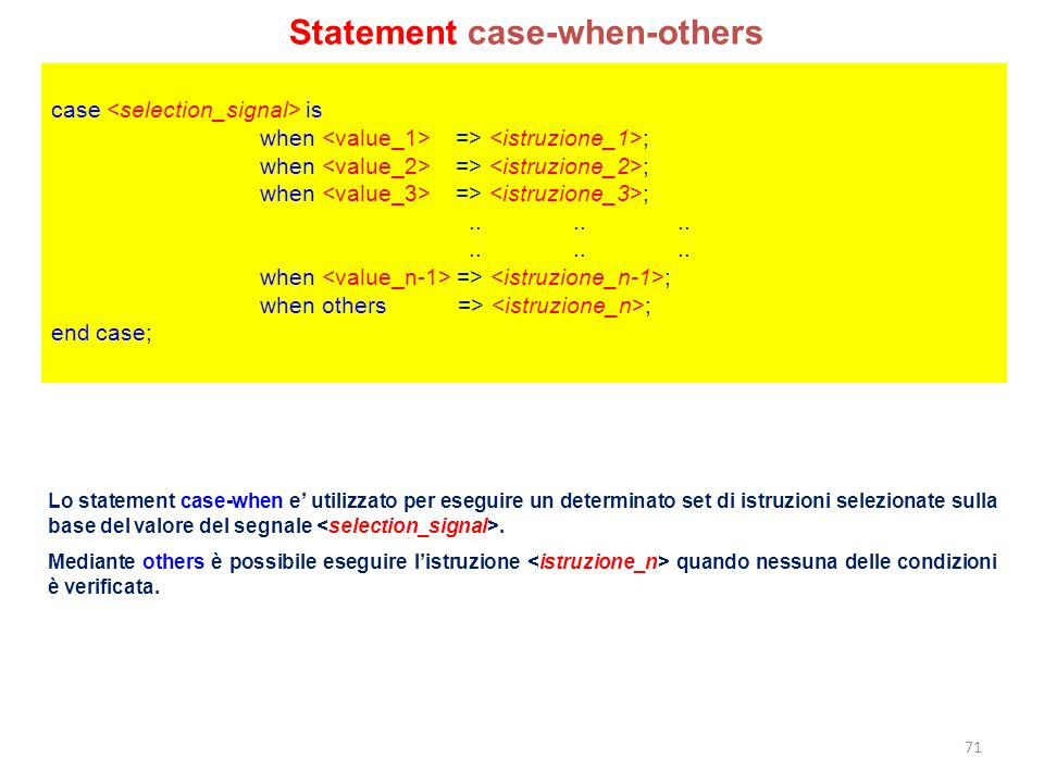 Statement case-when-others