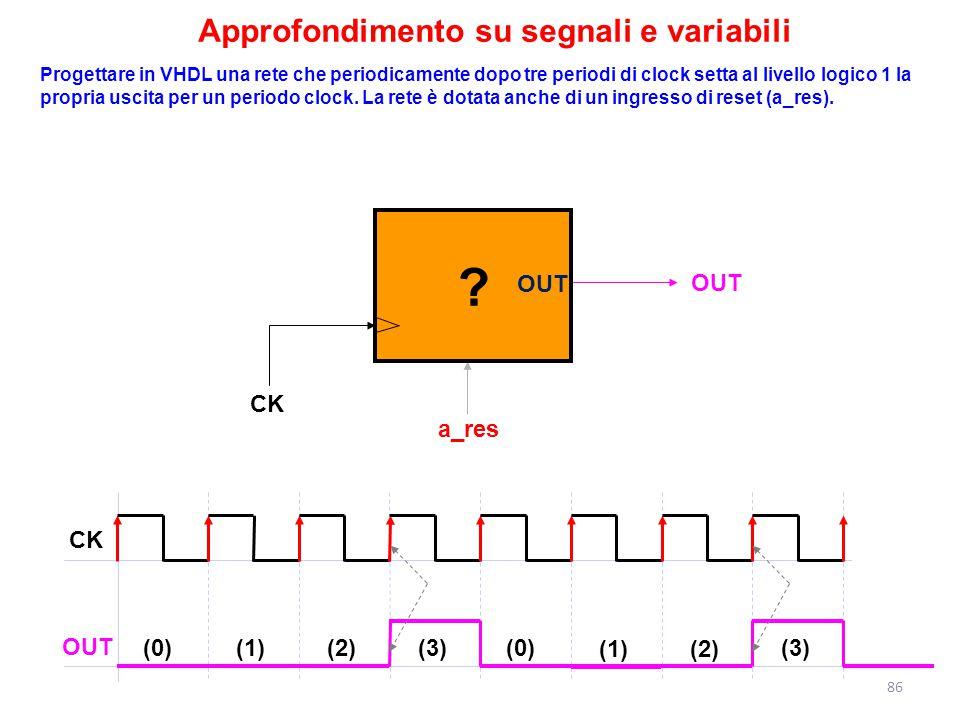Approfondimento su segnali e variabili