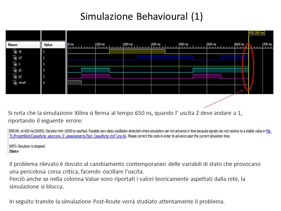 Simulazione Behavioural (1)