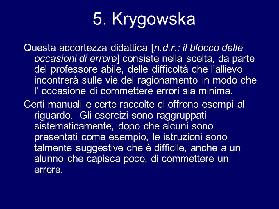 5. Krygowska