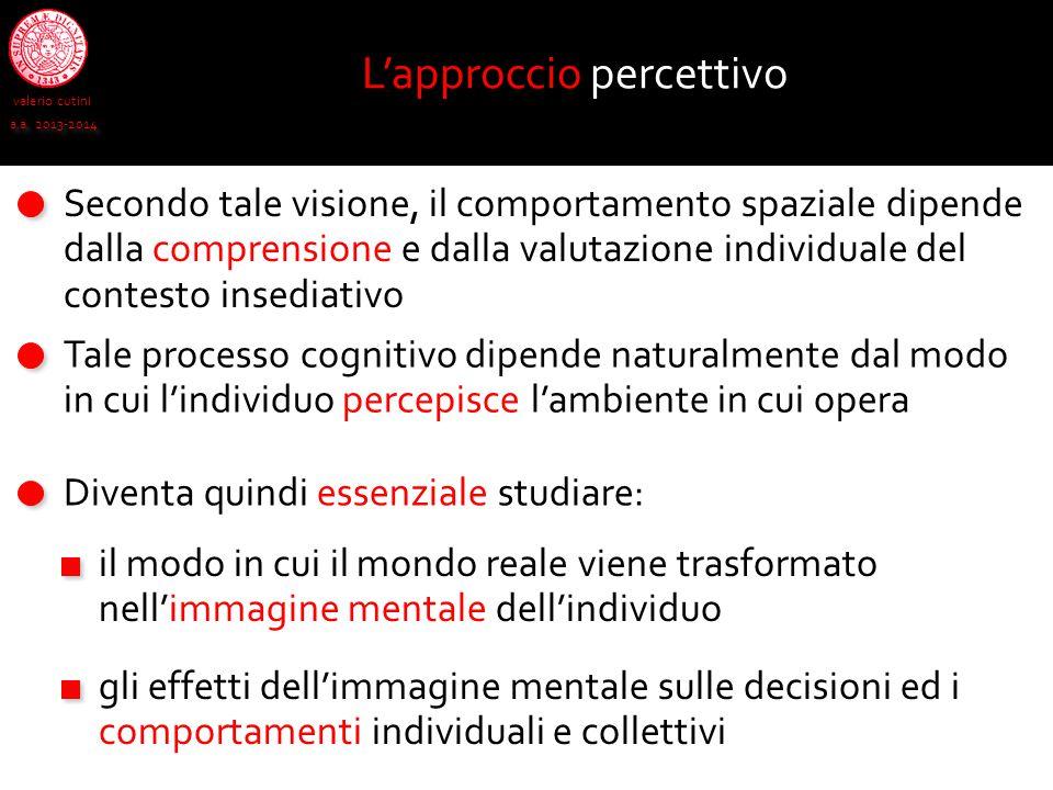 L'approccio percettivo