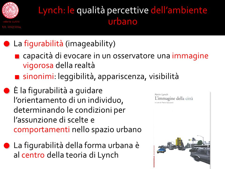 Lynch: le qualità percettive dell'ambiente urbano