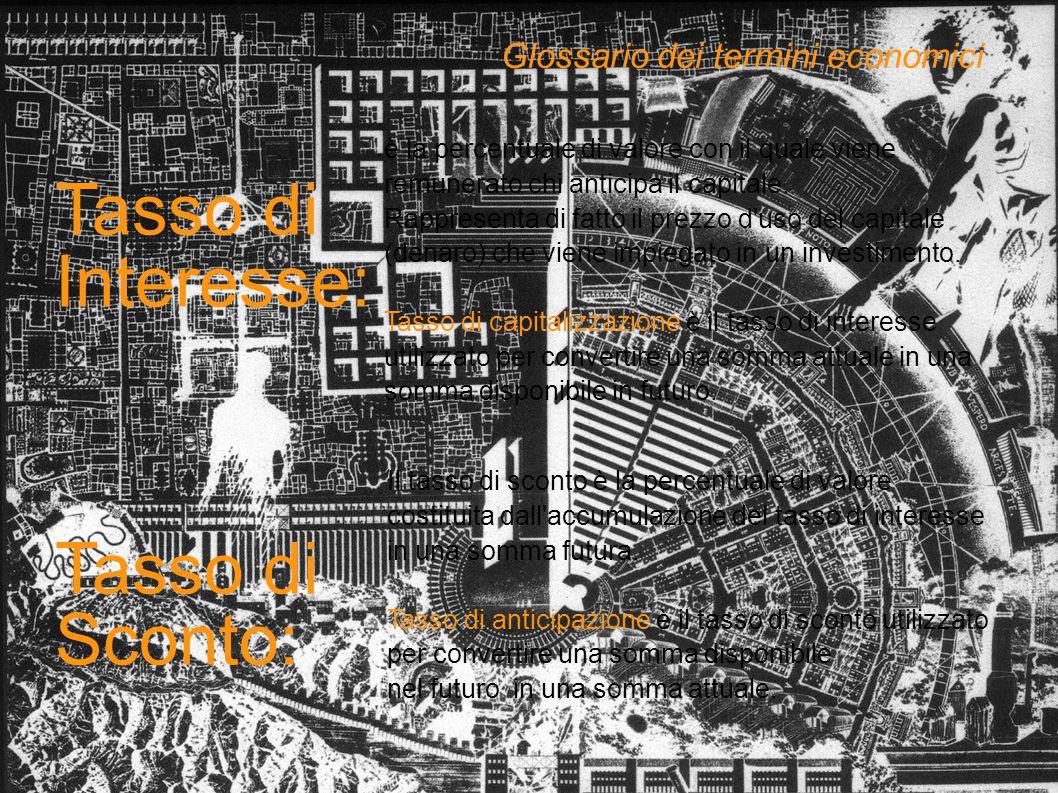 Tasso di Interesse: Tasso di Sconto: Glossario dei termini economici