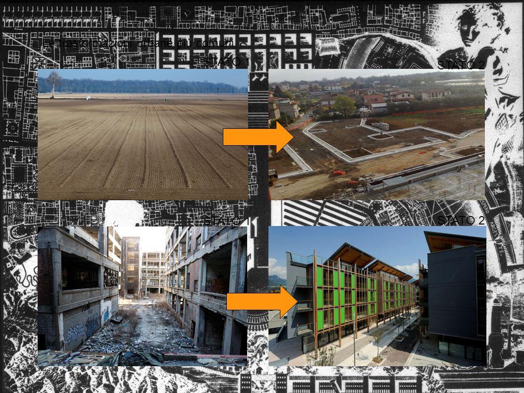 Le trasformazioni urbane più comuni