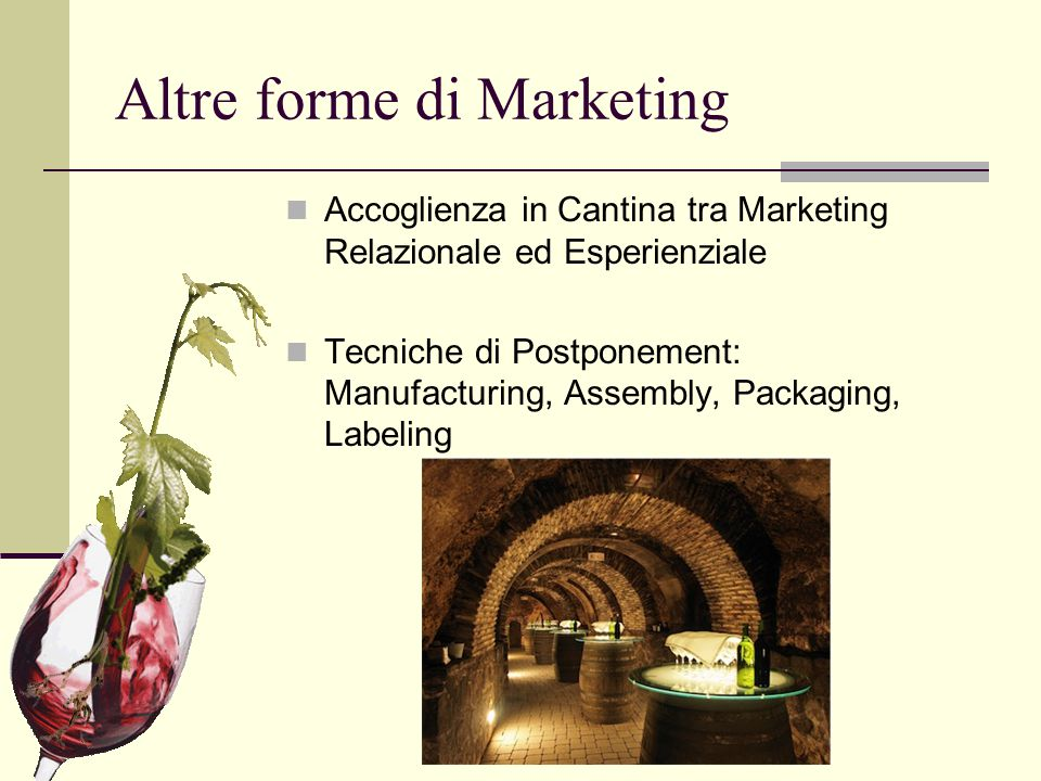 Altre forme di Marketing