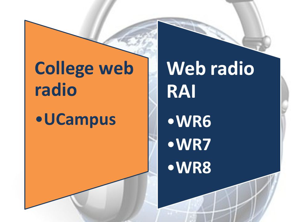 College web radio UCampus Web radio RAI WR6 WR7 WR8
