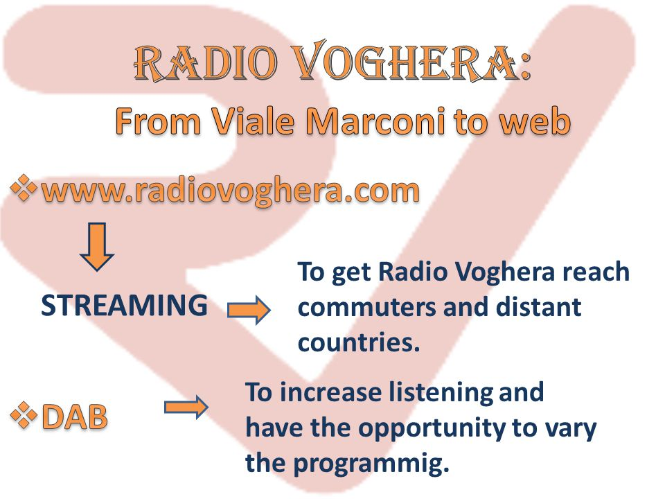 Radio voghera: From Viale Marconi to web