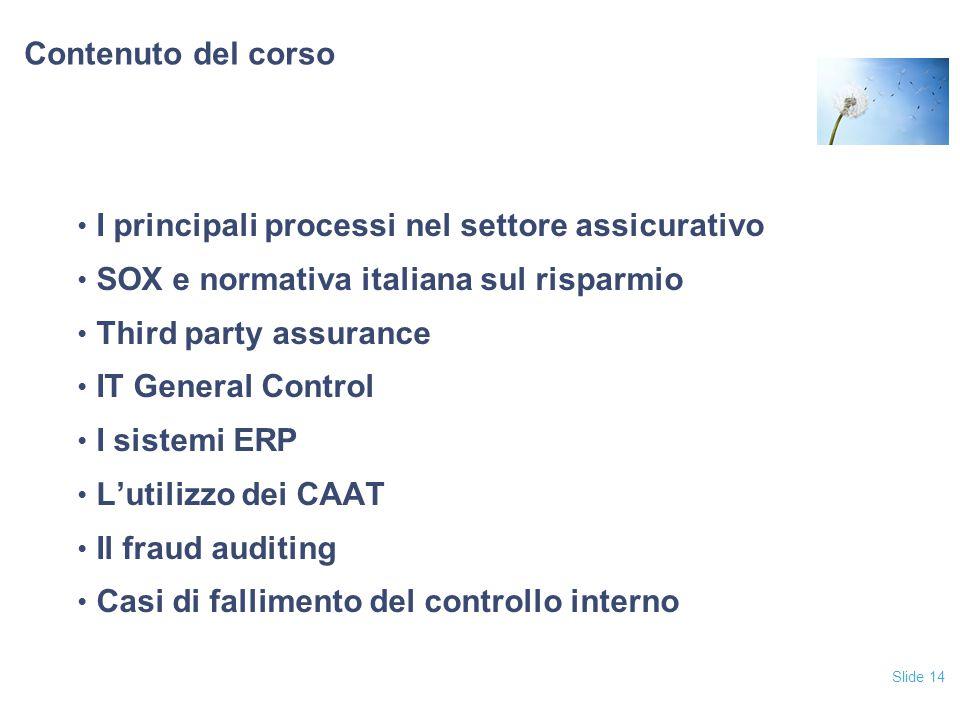I principali processi nel settore assicurativo