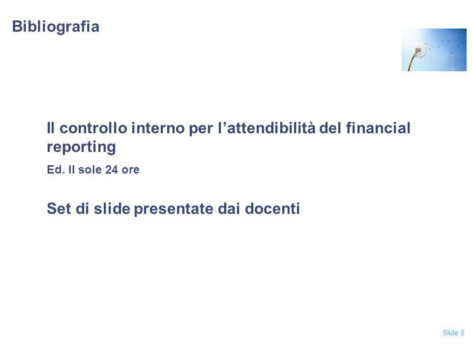 Il controllo interno per l'attendibilità del financial reporting