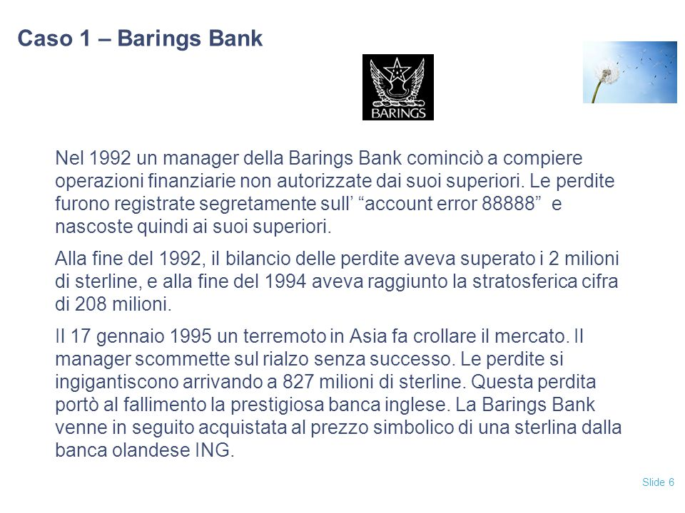 06/04/2017 Caso 1 – Barings Bank.
