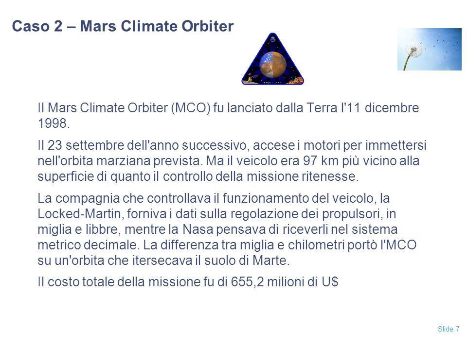 Caso 2 – Mars Climate Orbiter