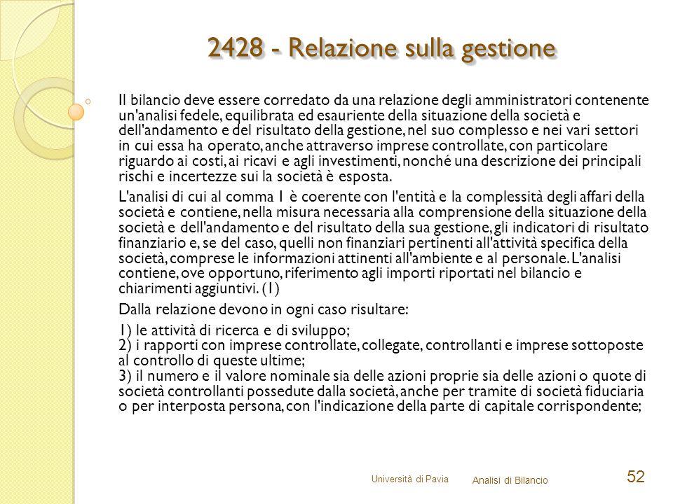 2428 - Relazione sulla gestione