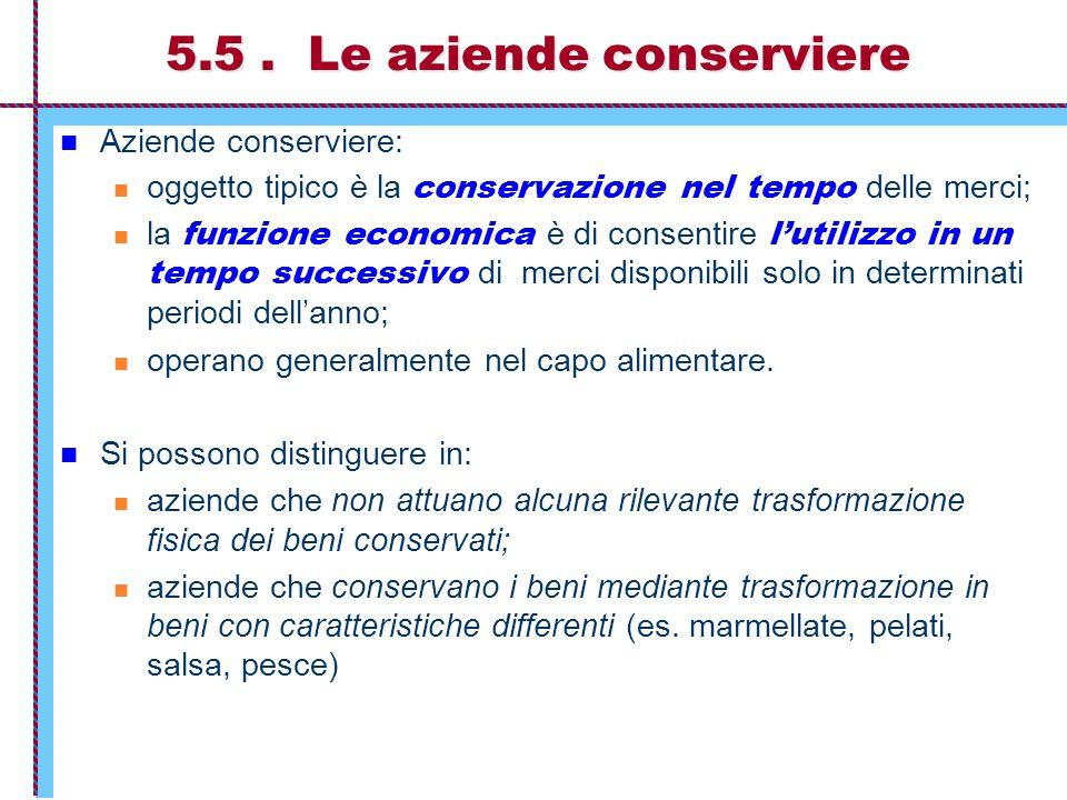 5.5 . Le aziende conserviere