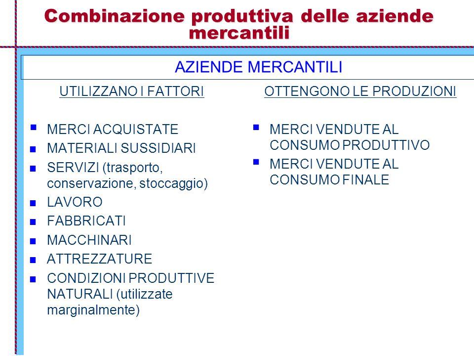 Combinazione produttiva delle aziende mercantili