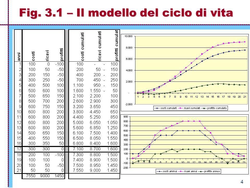 Fig. 3.1 – Il modello del ciclo di vita
