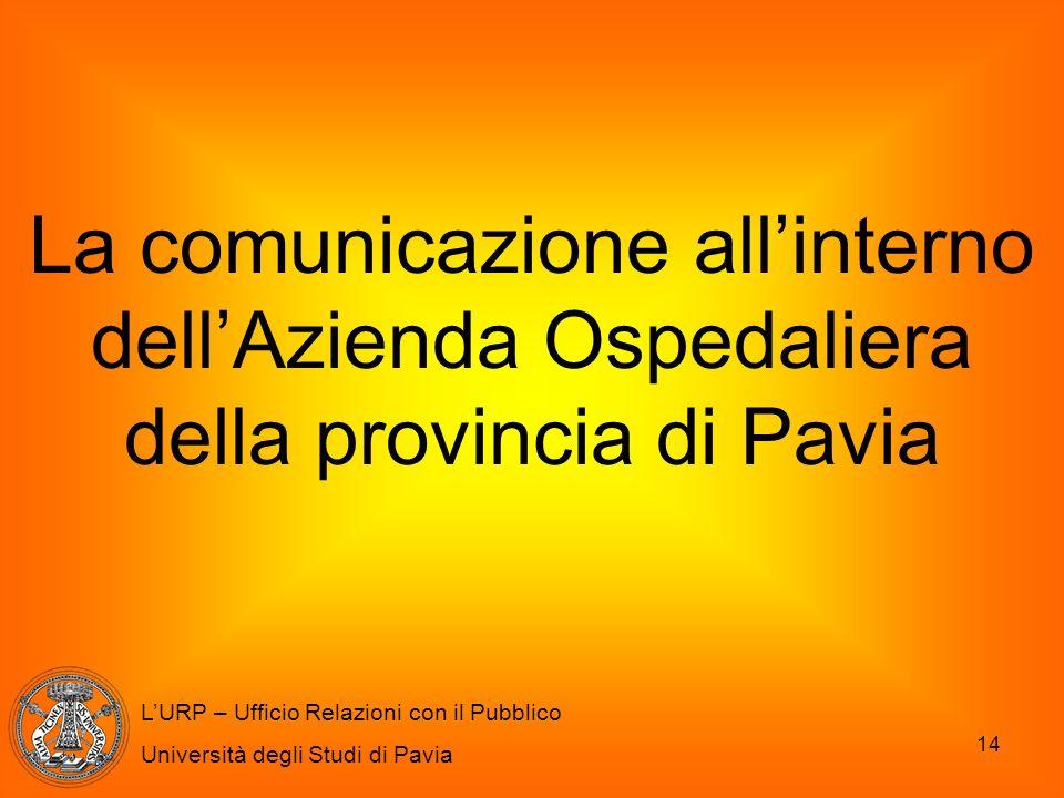 La comunicazione all'interno dell'Azienda Ospedaliera della provincia di Pavia