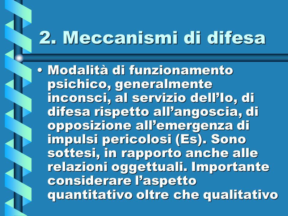 2. Meccanismi di difesa