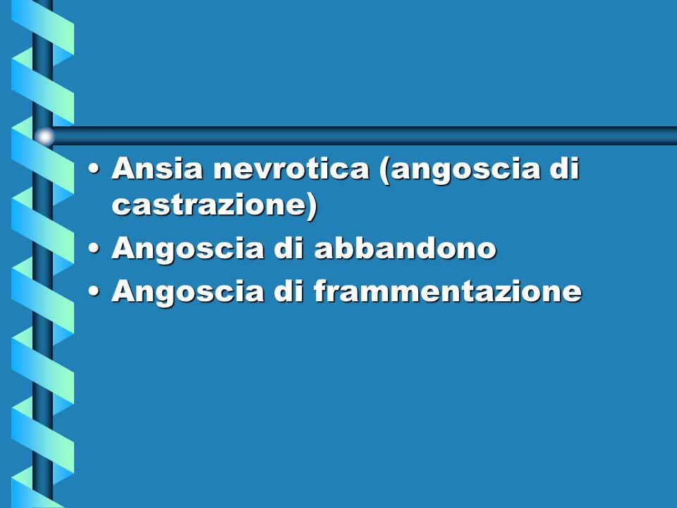 Ansia nevrotica (angoscia di castrazione)