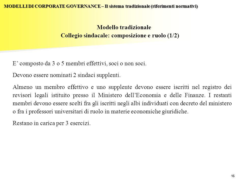 Collegio sindacale: composizione e ruolo (1/2)