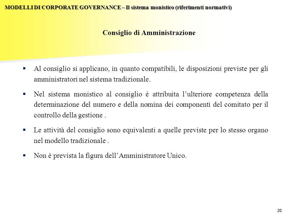 Consiglio di Amministrazione