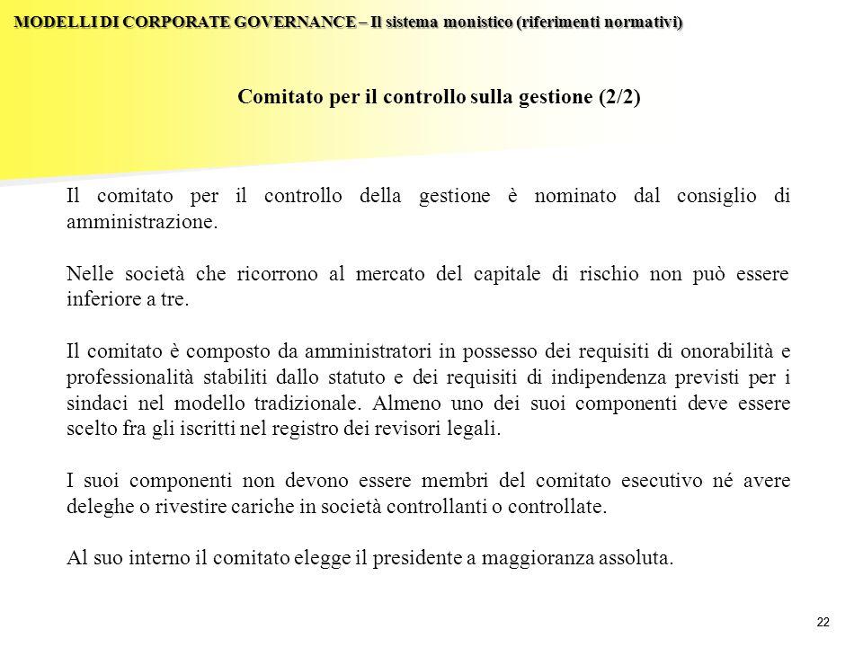 Comitato per il controllo sulla gestione (2/2)