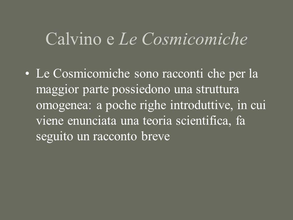 Calvino e Le Cosmicomiche