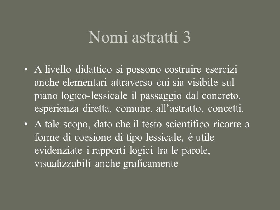 Nomi astratti 3