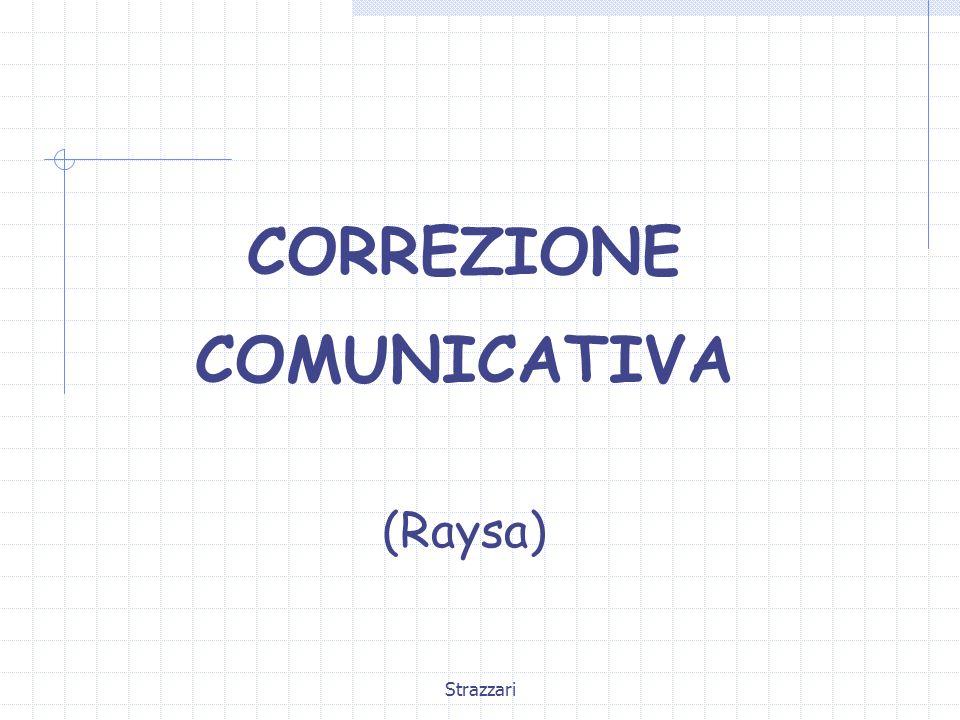 CORREZIONE COMUNICATIVA